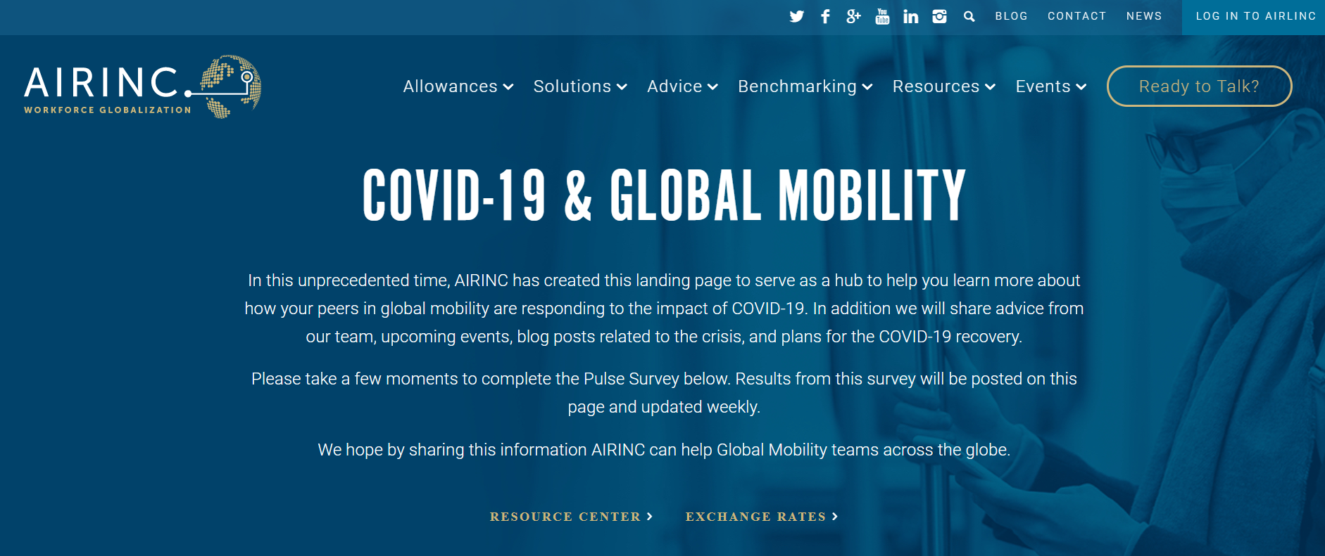 AIRINC COVID-19 Landing Page