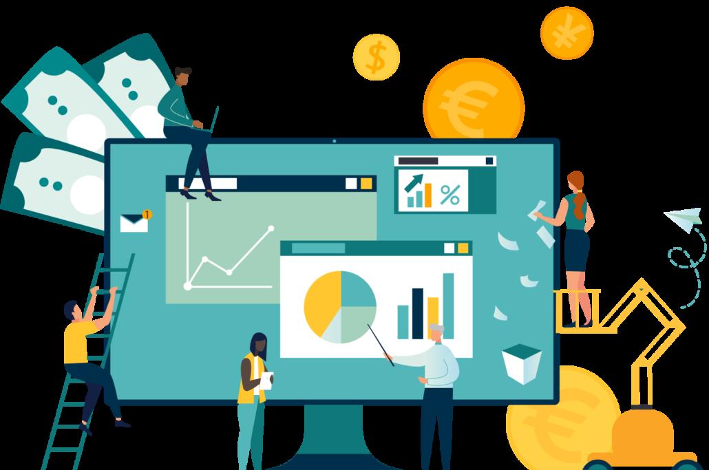 AIRINC-Salary-Evaluation-Tool-People-surrounding-desktop-monitor@2x-1030x683