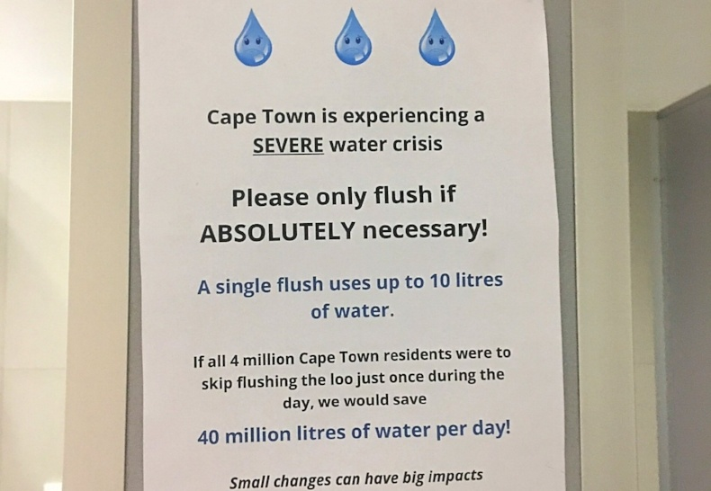 Cape Town Water Crisis: 'Only flush if ABSOLUTELY necessary!'