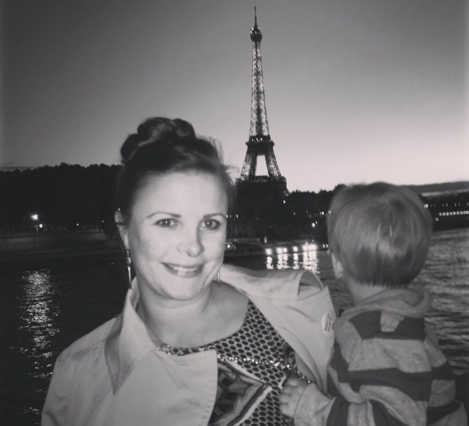 Paris, France: Casey and Max at the Eiffel Tower