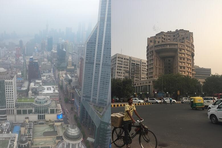 Shanghai and New Delhi as seen during the recent AIRINC on-site cost of living surveys. Photos taken by AIRINC surveyors Omar Tarabishi and Meleah Paull.