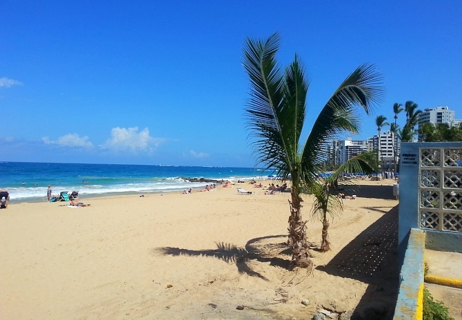 Condado Beach in Puerto Rico taken by AIRINC Cost of Living Surveyor Matt McClintic during our February on-site survey.