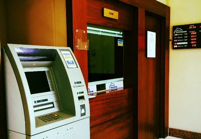 According to locals, many banks won't let you take out USD or exchange the local currency, the Uzbekistani som, into USD. Additionally, most ATMs don't work in Tashkent.