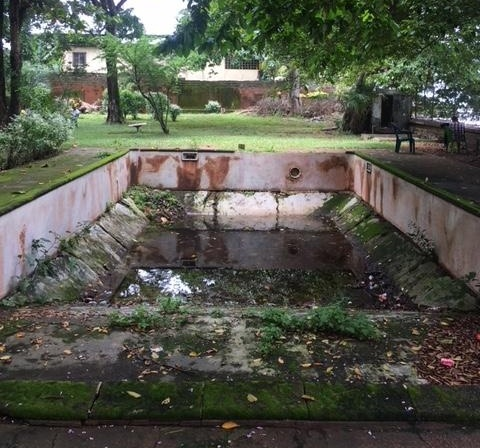 Conakry, Guinea as seen during AIRINC's recent on-site survey. Photo of swimming pool at the former French Embassy taken by AIRINC International Survey Teams Manager, Andrew Morollo.