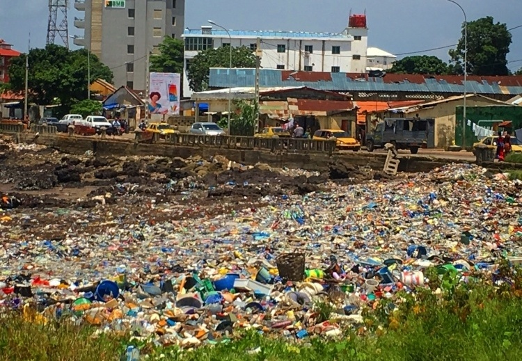 Conakry, Guinea as seen during AIRINC's recent on-site survey. Photo of garbage strewn across a local beach taken by AIRINC International Survey Teams Manager, Andrew Morollo.