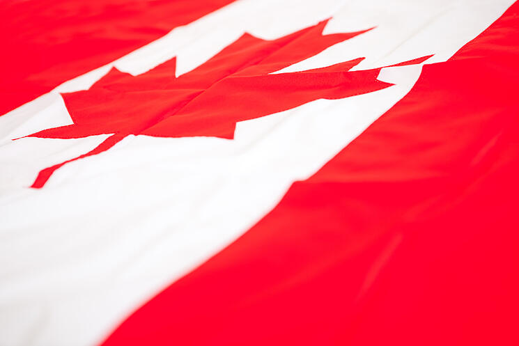 Flag from Canada to be used as background