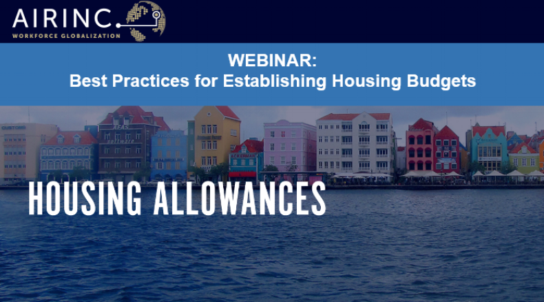 Webinar: Best Practices for Establishing Housing Budgets. Presented by AIRINC.