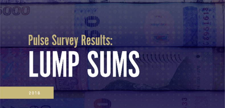 2018 Lump Sum Survey Results