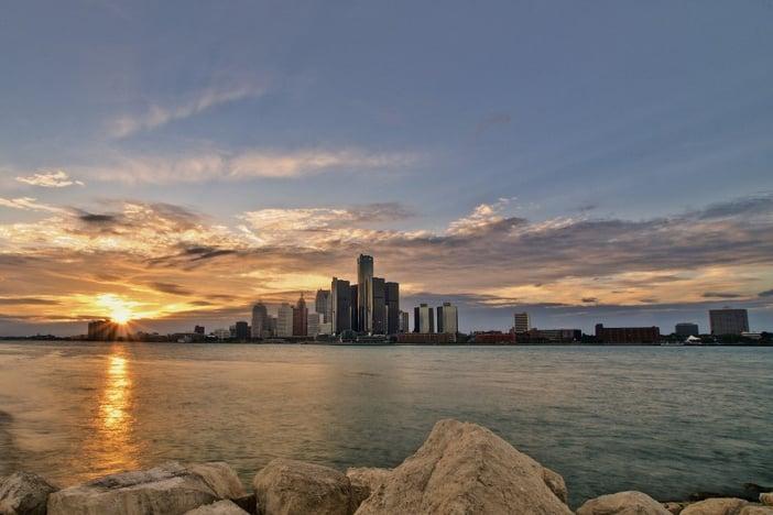 Canva - Detroit Skyline at Sunset
