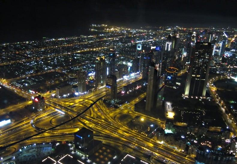 Dubai - night view of streets - Madara Stala