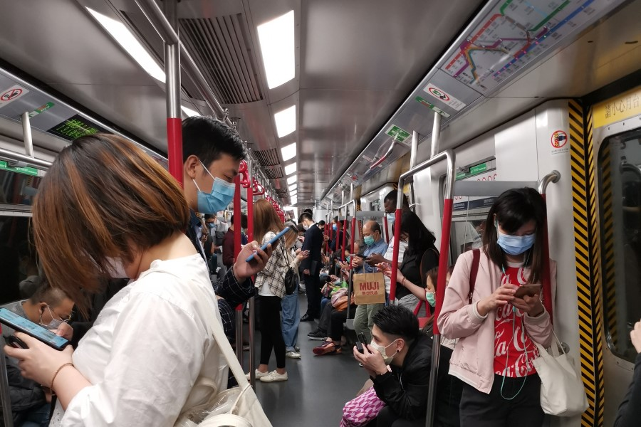 Inside a Hong Kong metro during COVID-19