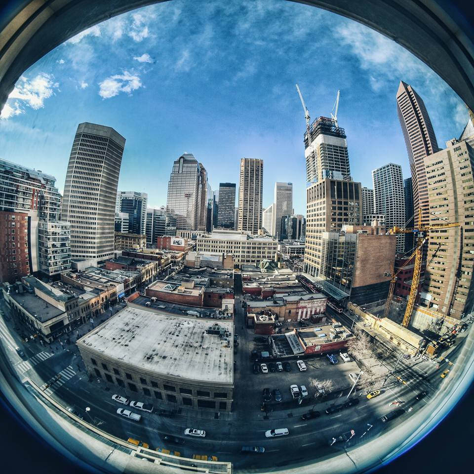 Calgary through the lens as seen during AIRINC'S onsite survey of Calgary, Canada.  Photo taken by AIRINC Surveyor Oscar Rasson