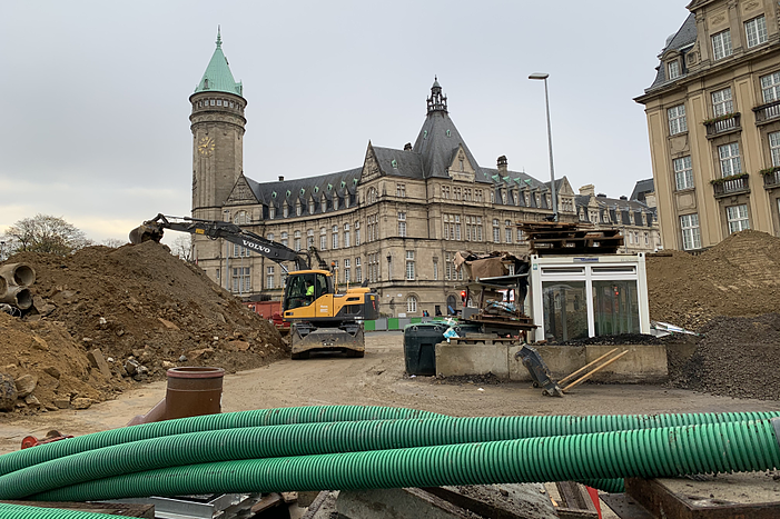 Luxembourg City Center under construction