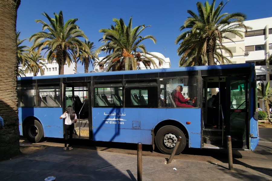 Public Bus Transportation in Casablanca, Morocco