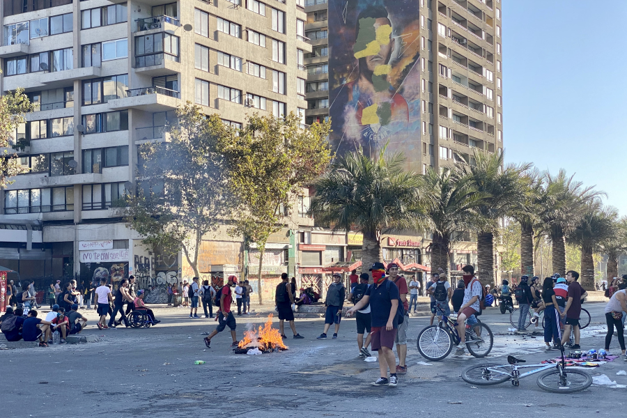 Santiago, Chile - Protests and Security