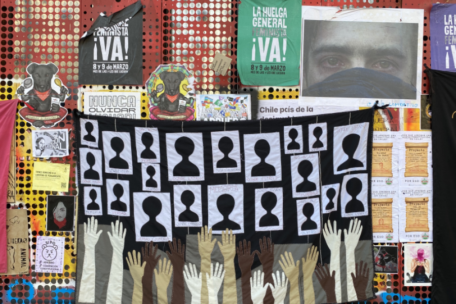Signs of Protest in Santiago, Chile