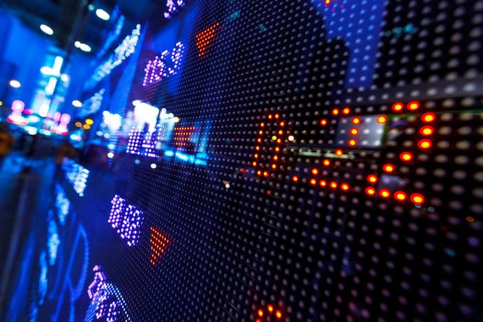 Stock market price drop display-1