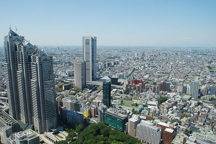 View from the Tokyo Metropolitan Government Building by SPS