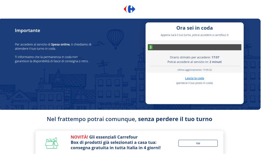 carrefour italy online supermarket wait line - 900-1