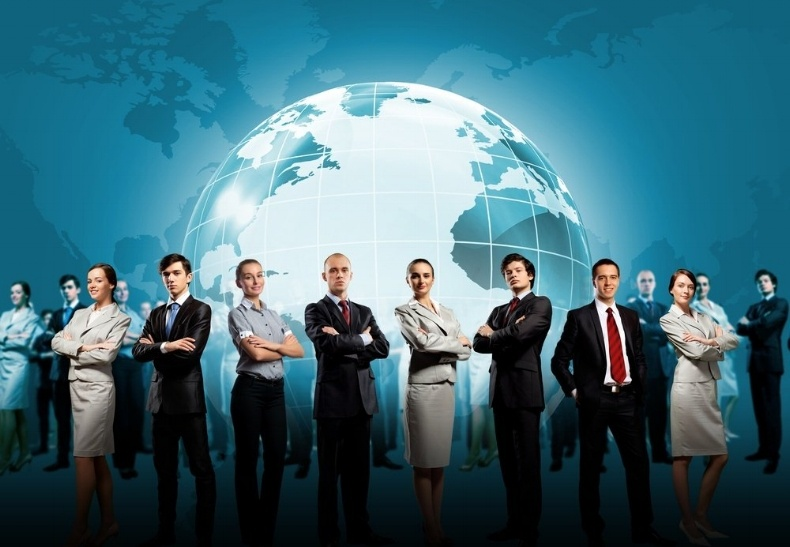 Group of successful confident businesspeople. Globalization concept-323030-edited