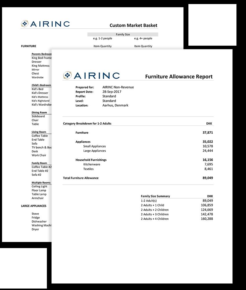Furniture Allowance Report
